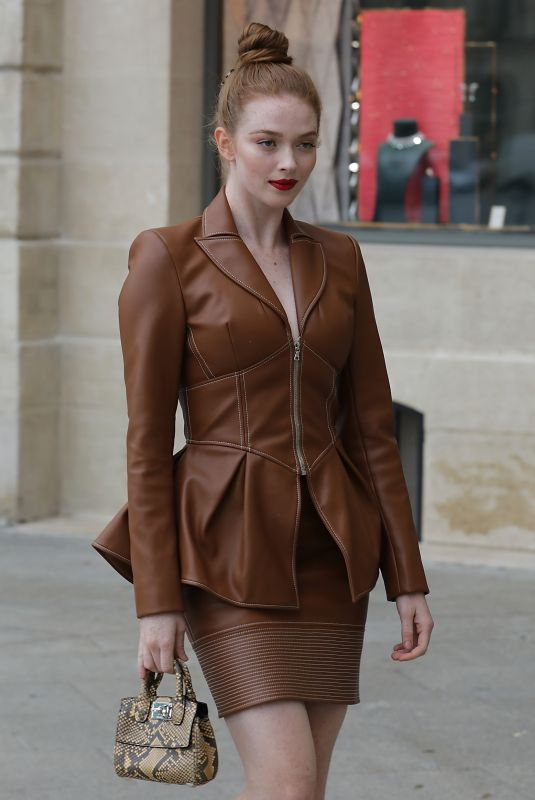 Larsen Thompson Seen out and about in Paris during Paris Fashion Week