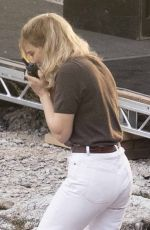 Lea Seydoux On the set of James Bond