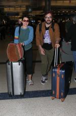 Lena Headey Flies into LAX