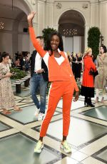 Leomie Anderson At Tory Burch Fashion Show in NYC
