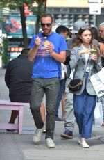 Lily Collins At Cha Cha Matcha in NYC