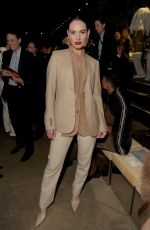 Lily James At Burberry September 2019 show during London Fashion Week in London, England