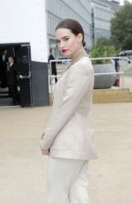 Lily James Attending Burberry show held at Troubadour White City Theatre during LFW