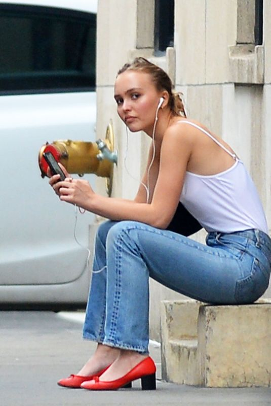 Lily-Rose Depp Out in New York City