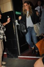 Louise Redknapp Leaving The Palace Theatre After 9 to 5 The Musica,l Manchester