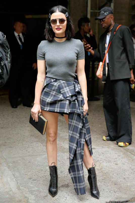 Lucy Hale At Vera Wang Fashion Show in NYC