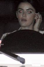 Lucy Hale Enjoys dinner out with friends in LA