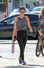 Lucy Hale Going to a workout in Studio City