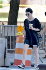 Lucy Hale Out for ice coffee in New York
