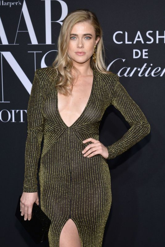 Melissa Roxburgh At Harper's Bazaar ICONS Party at The Plaza Hotel in New York