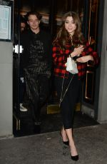 Natalia Dyer & Charlie Heaton Seen leaving Caviar Kaspia in Paris
