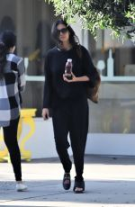 Nina Dobrev Visited a local hair salon in West Hollywood