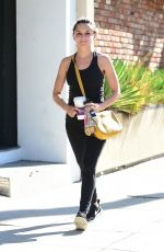 Rachael Leigh Cook Leaving a gym in Studio City