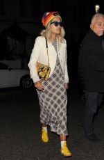 Rita Ora Seen wearing a Marc Jacobs rainbow hat while out and about in London