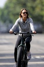 Robin Wright Goes for a bike ride with Clement Giraudet and their dog in Los Angeles