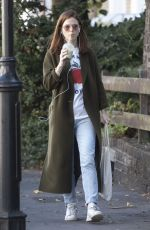 Rose Leslie Out for a smoothie in London