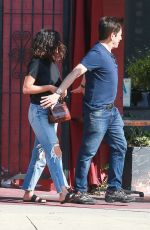 Selena Gomez At Osteria Mamma in LA