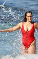 Sophia Brennan Pictured onset for a swimwear photoshoot in Sydney
