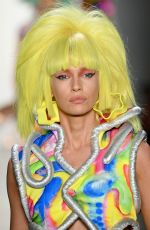 Stella Maxwell Walks the runway for Jeremy Scott during NYFW in NYC