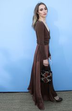 Suki Waterhouse Arrives at the Michael Kors Collection Spring 2020 Runway Show during New York Fashion Week