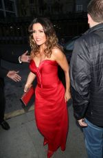 Susanna Reid Attends t GQ Men of the Year Awards in London wearing a red dress