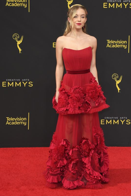 Sydney Sweeney Arrives at the 2019 Creative Arts Emmy Awards - Day 2 held at the Microsoft Theater in Los Angeles