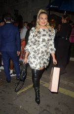 Tallia Storm Arriving at Annabels Private Members Club in Mayfair