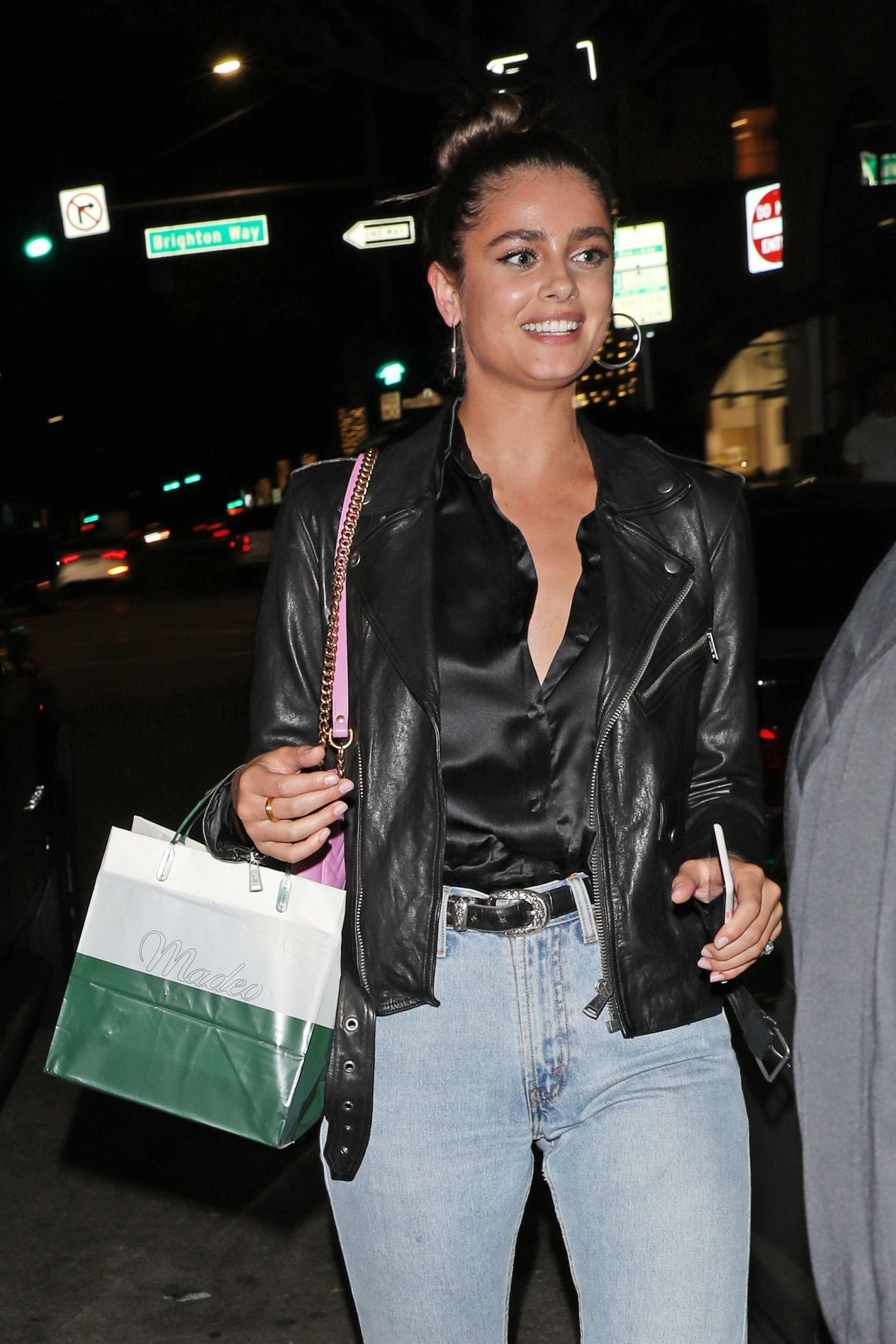 Taylor Hill At Dinner At Madeo Italian Restaurant In Beverly