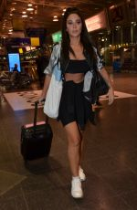 Tulisa Contostavlos Arriving At Manchester Piccadilly Train Station