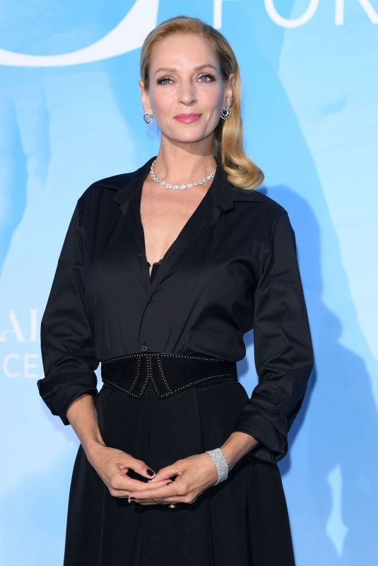 Uma Thurman At Gala for the Global Ocean Monte-Carlo in New York