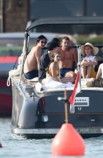 Vanessa Hudgens On their sun soaked holiday vacation out on their yacht in Porto Cervo, Italy