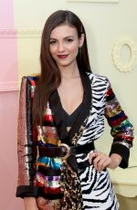 Victoria Justice At Alice + Olivia by Stacey Bendet fashion show in NTC