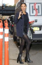 Adriana Lima Is all smiles while leaving a Photoshoot in New York