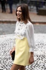 Alexa Chung Arriving at Miu Miu Spring/Summer 2020 show during Paris Fashion Week, in Paris