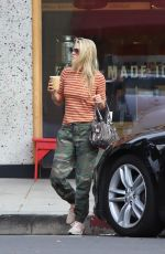 Ali Larter Stops for a drink in Larchmont Village in Los Angeles