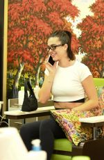 Amelia Hamlin Gets her nails done at Beverly Hills Nail Design