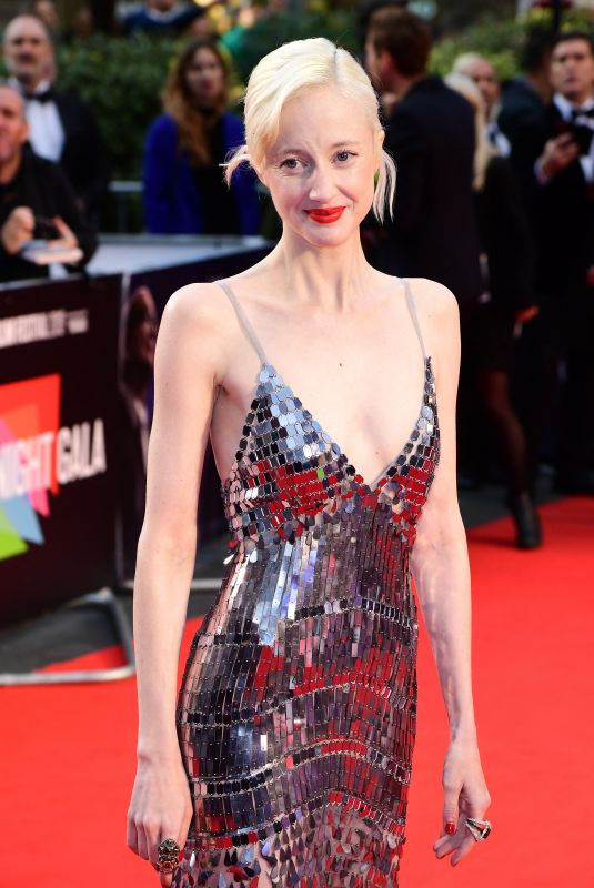 Andrea Riseborough Attends The Irishman International Premiere during the 63rd BFI London Film Festival, London