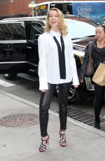 Anna Camp Seen outside the Build Studio