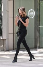 Ashley Benson Outside an office building in Century City