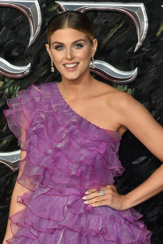Ashley James Attending the Premiere of Maleficent: Mistress of Evil at Odeon IMAX Waterloo in London