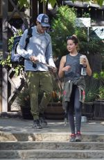 Ashley Tisdale Takes Ziggy for a walk in LA