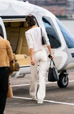 Bella Hadid Takes a helicopter ride with her friend Fanny after celebrating her 23rd birthday in NY