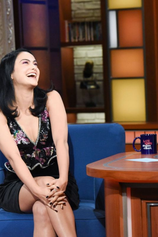 Camila Mendes At The Late Show with Stephen Colbert in NYC