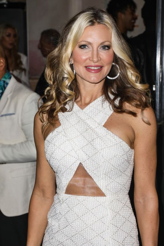 Caprice Bourret Attends the launch party for the new Winter Terrace at Lazeez Tapas Mayfair restaurant in London