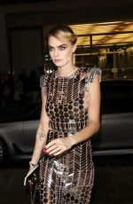 Cara Delevingne Arriving at the SpaceSelfie photocall in London