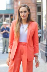 Carly Chaikin Arrives at AOL Build in New York