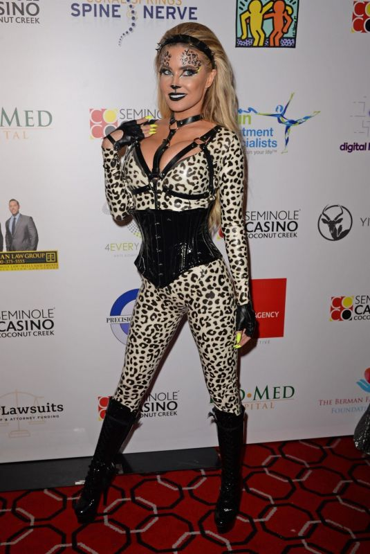 Carmen Electra Arriving at Fright Nights Halloween Costume Party in Coconut Creek