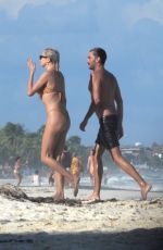 Caroline Vreeland Shows off a very thin bikini while on vacation in Tulum