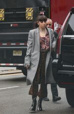 Charli XCX Checking out of her hotel in New York City