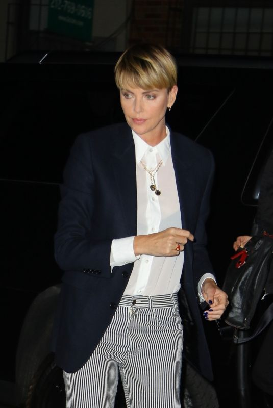 """Charlize Theron Arrives to a screening of """"Bombshell"""" in New York City"""